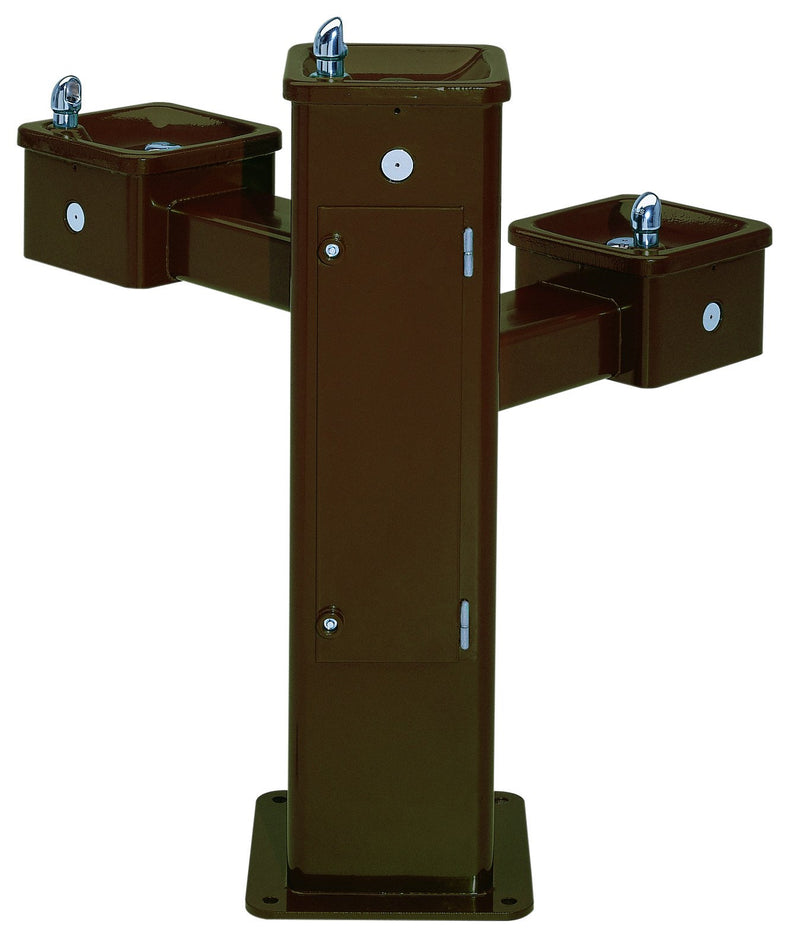 Haws 3502 Triple Bubbler Pedestal Drinking Fountain