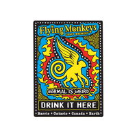 Flying Monkeys Cadera Metal Sign