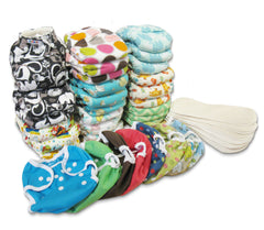 Trousse de couches moulées Flannel Fitted|Flannel Fitted Diaper Kit