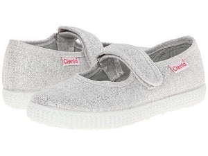 Cienta 56013 Silver Sparkle Mary Jane