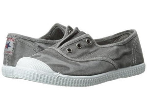 Cienta 70777.23 Washed Light Grey Canvas Laceless Sneaker