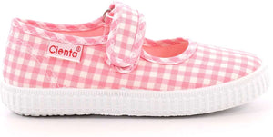 Cienta 56007 Light Pink Gingham Mary Jane