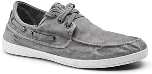 Natural World Men's Boat Shoe 303E Grey
