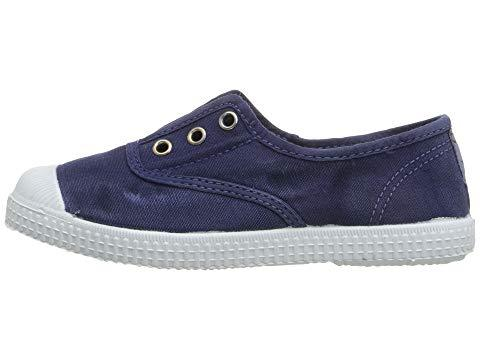 Cienta 70777.84 Washed Navy Canvas Laceless Sneaker