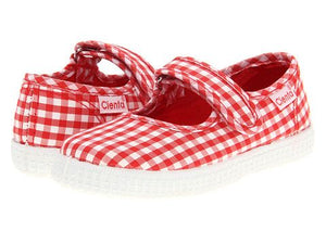 Cienta 56007 Red Gingham Mary Jane
