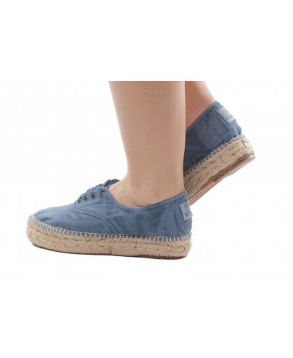 Natural World Women's Espadrille 687E Denim
