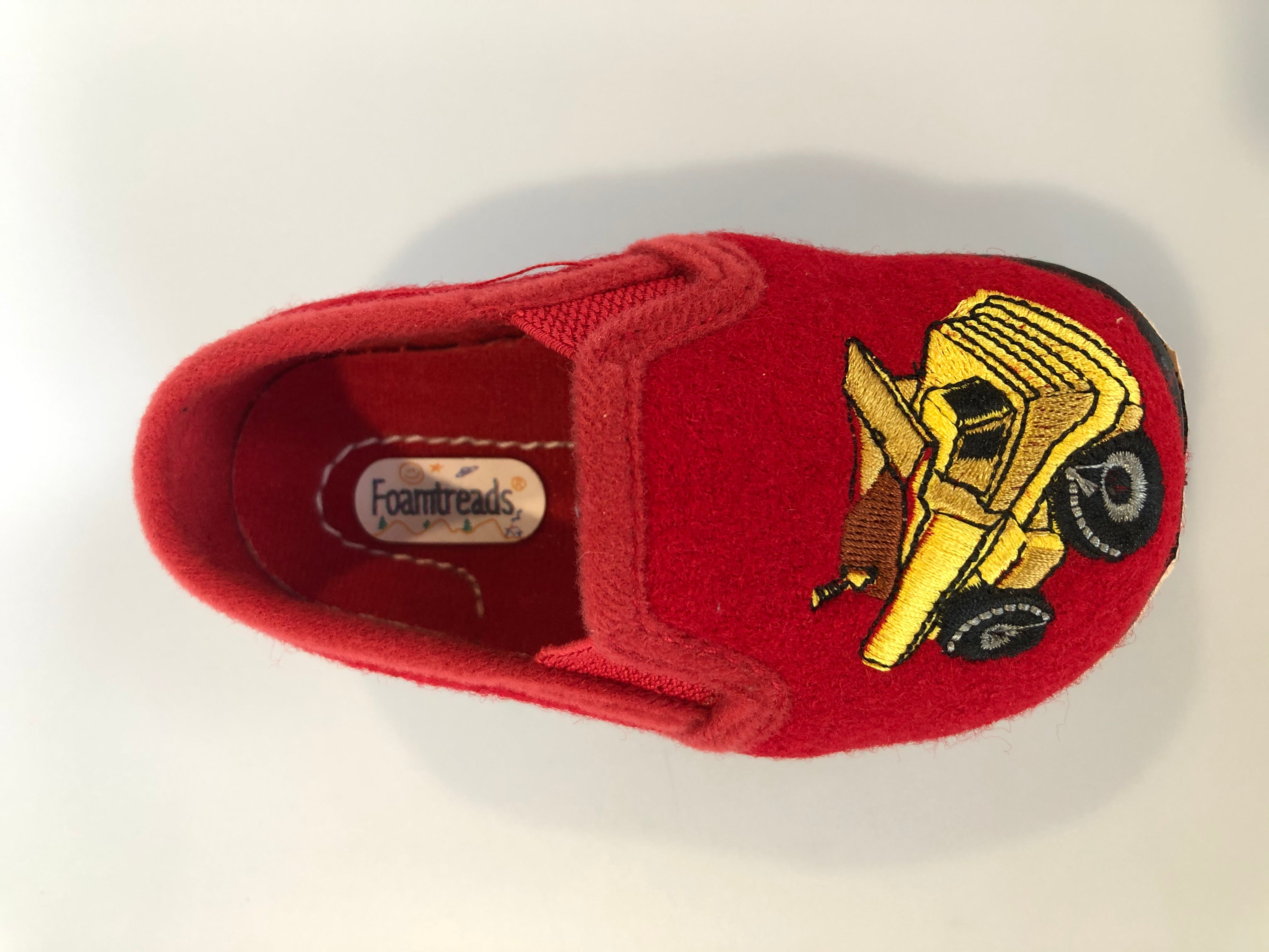 Foamtreads Red Truck Slipper