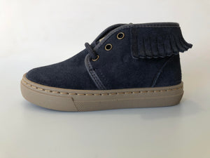 Cienta 91885.277 Navy Suede Lace Up Boot (Winter Lining)