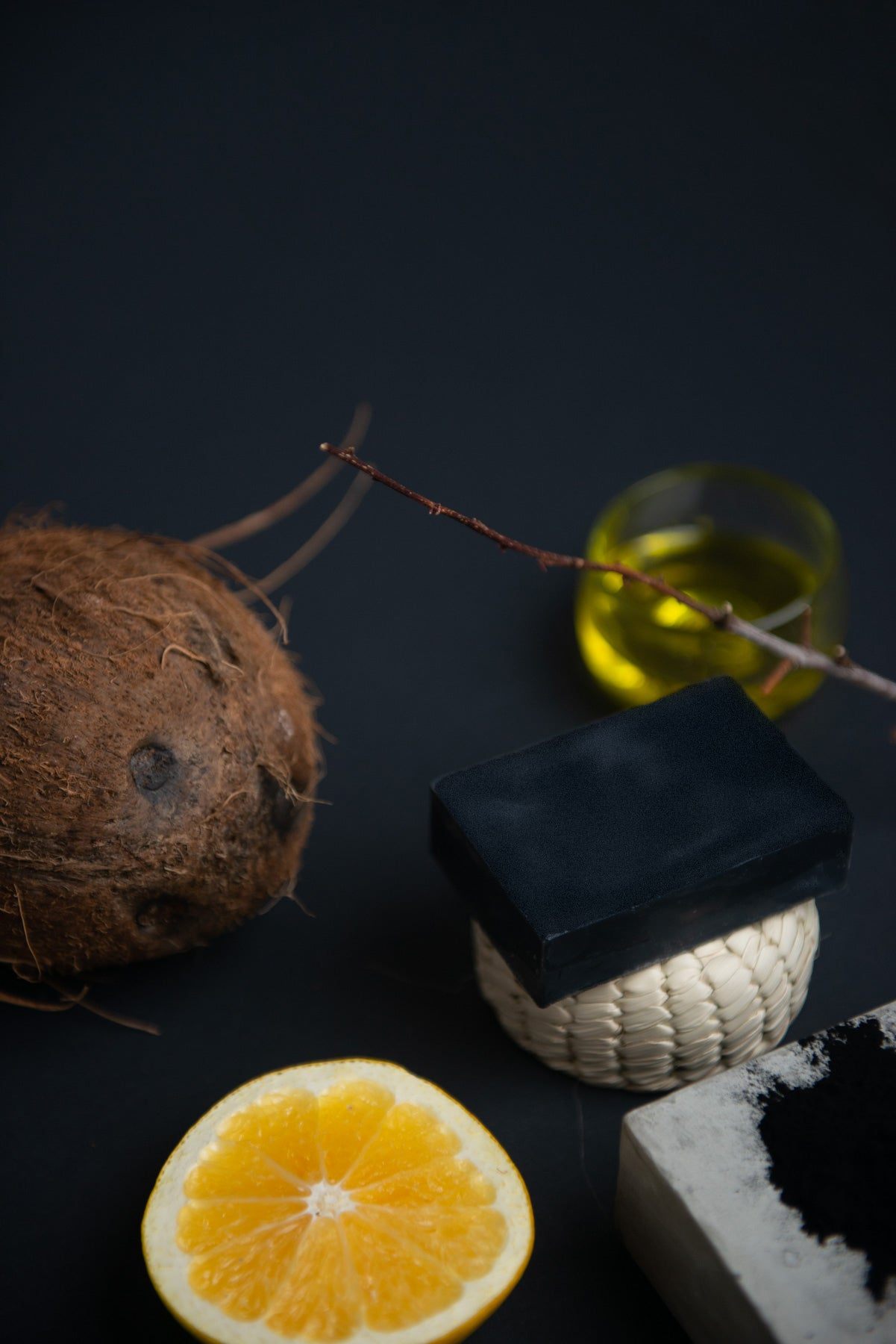 Obakki activated charcoal and baobab bar soap