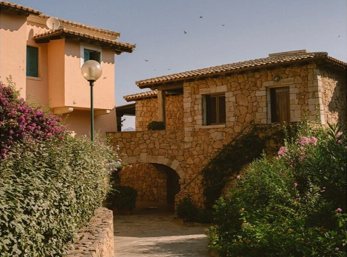 A stone archway in Italy