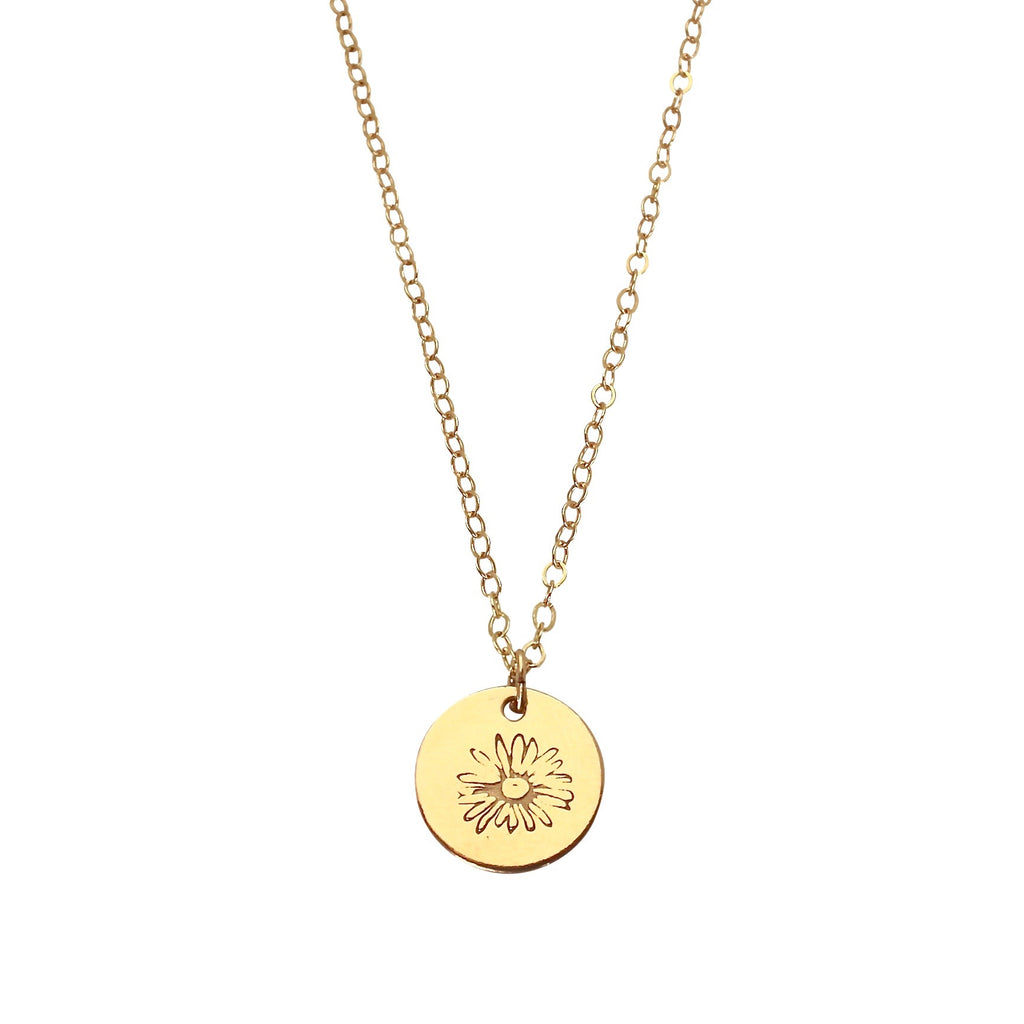 April Birth Flower necklace - Daisy