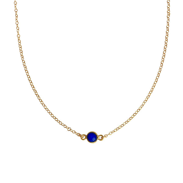 Blue Lapis Gold Choker necklace