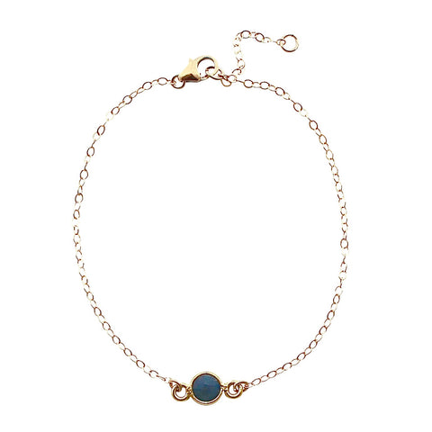 Single Drop Blue Onyx Bracelet