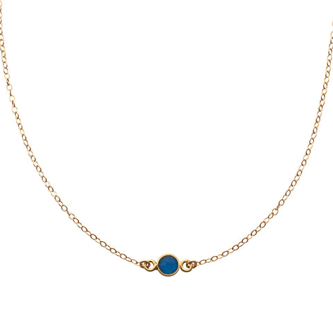 Blue Onyx Gold Choker