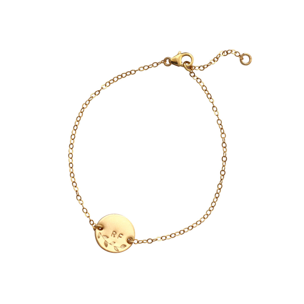 Botanical Personalised Gold bracelet