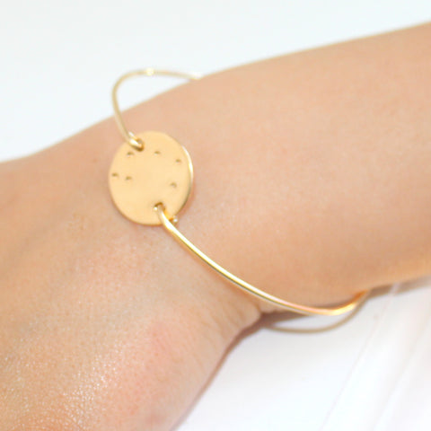 Gold Zodiac Constellation bangle