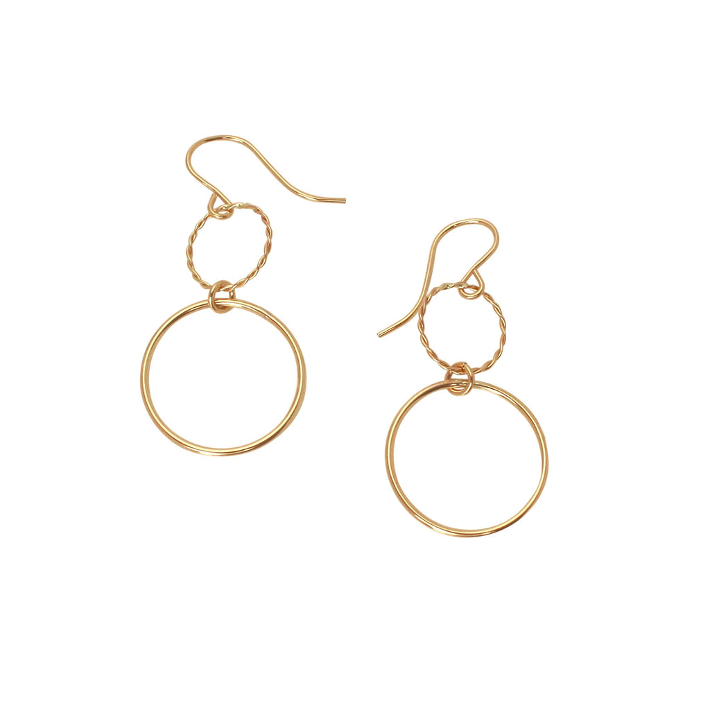 Double Open Circle earrings