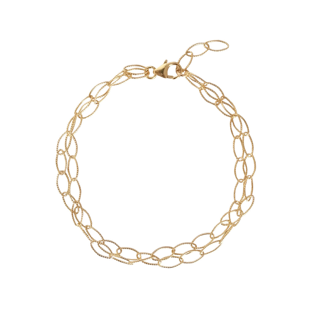 Double Strand Gold Link Chain bracelet