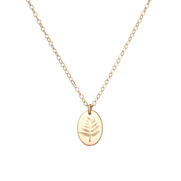 Fern necklace in gold