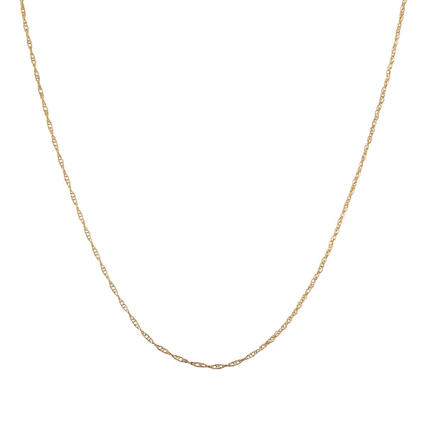 Fine gold filled rope chain