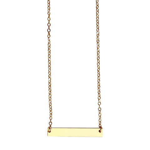 Gold Bar Necklace - medium
