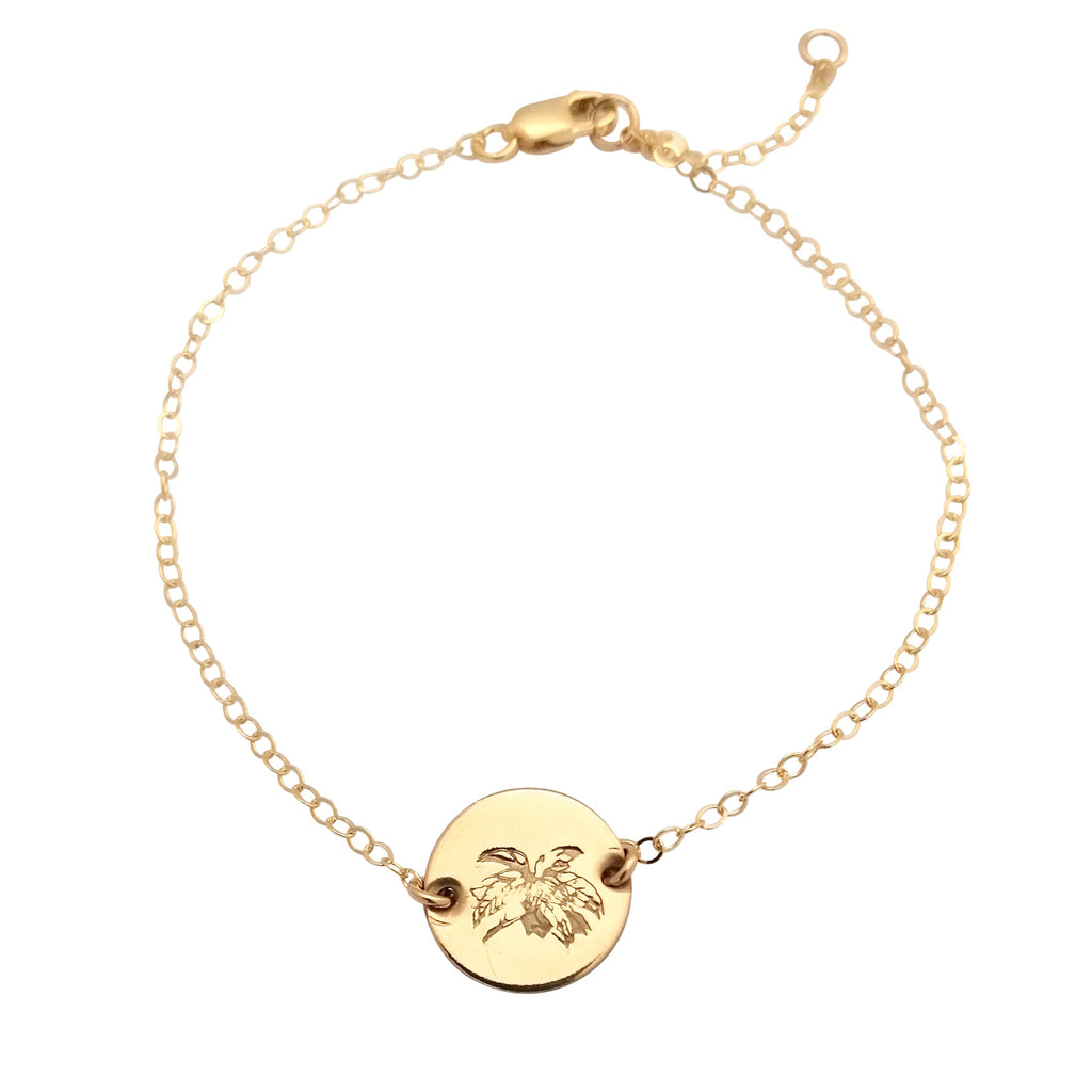Gold Birth Flower bracelet