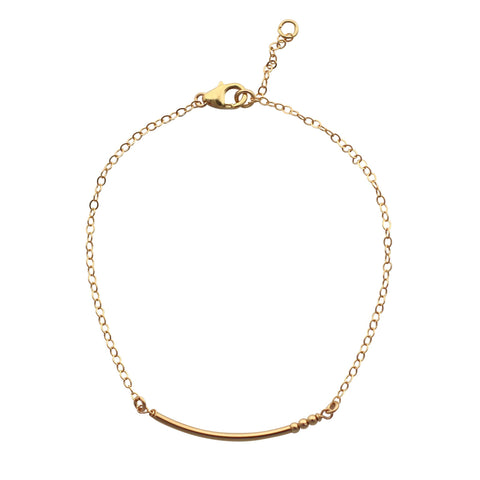 Gold Curved Bar bracelet