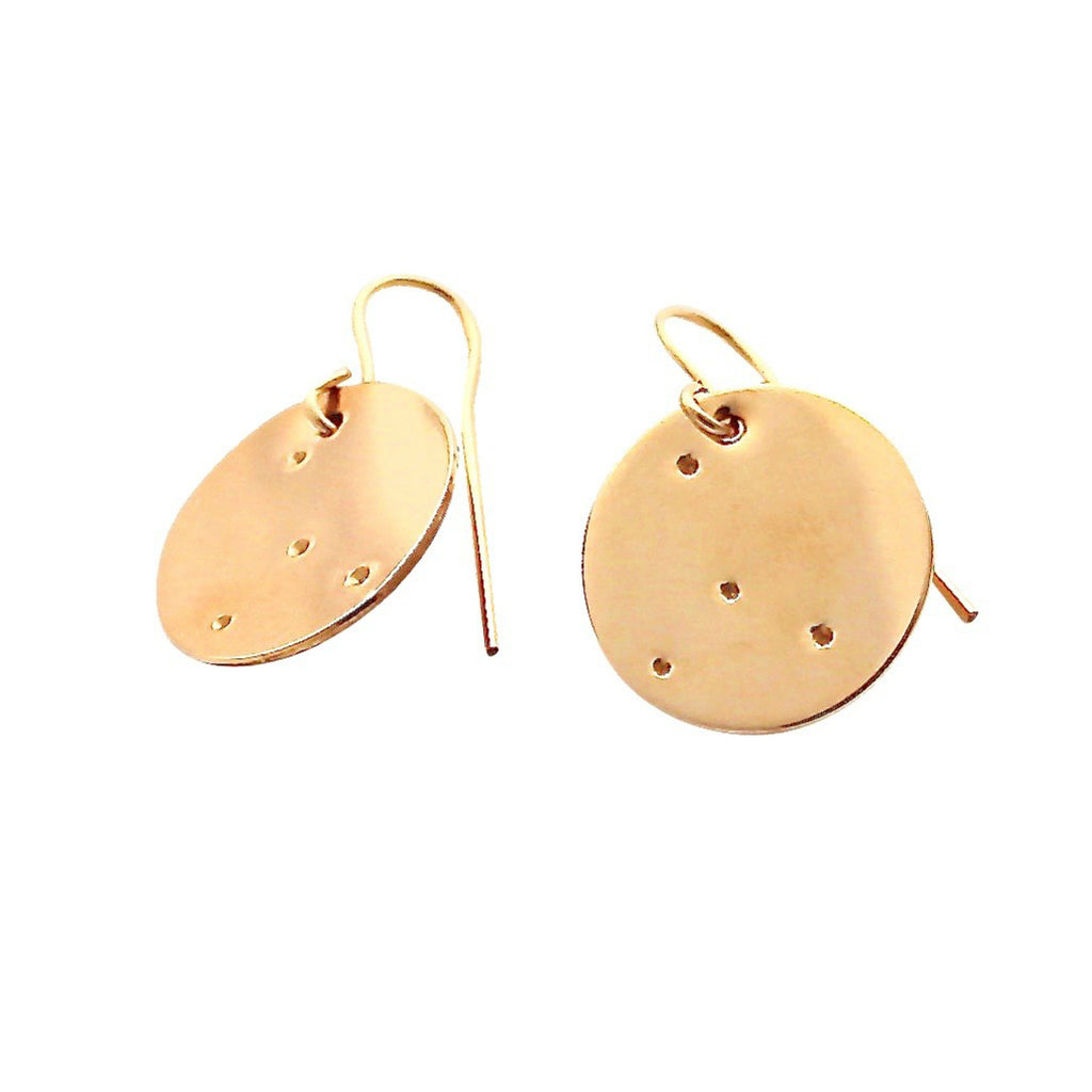 Gold Zodiac Constellation earrings