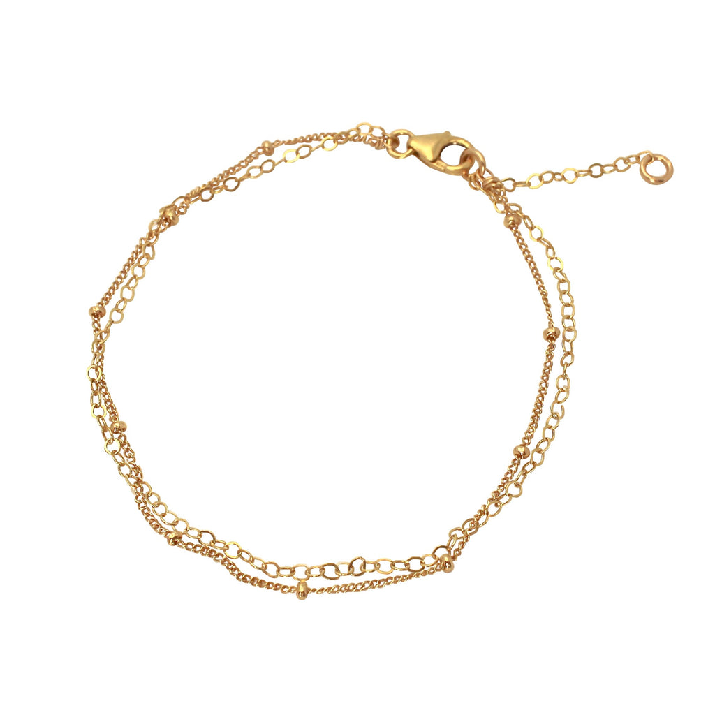 Delicate Gold Layered bracelet