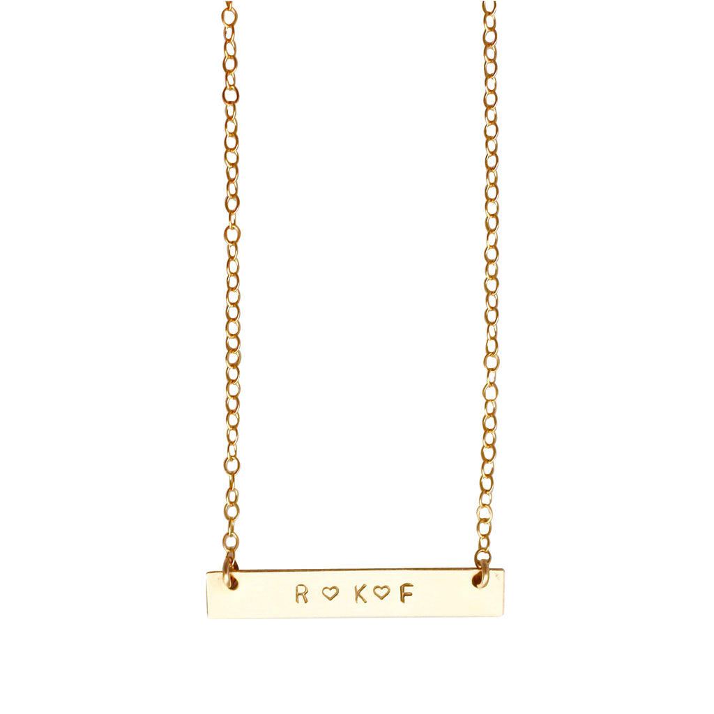 Gold Nameplate necklace - personalised