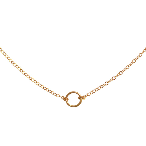 Gold Open Circle choker necklace