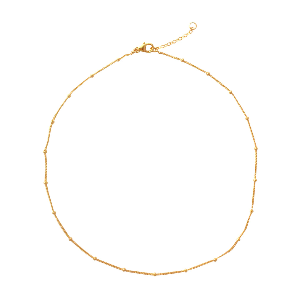 Gold Satellite chain choker necklace