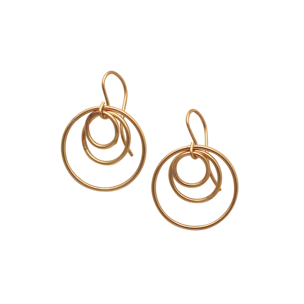 Gold Trilogy circle earrings