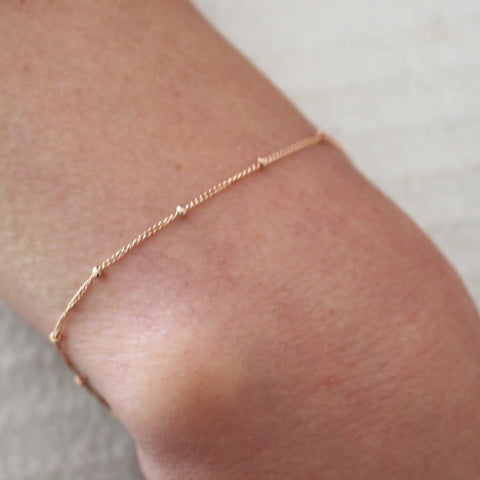 Rose Gold Satellite bracelet