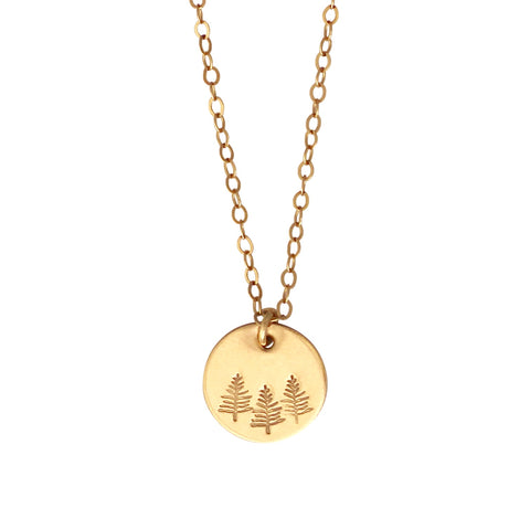 Botanical Gold Necklace - Forest