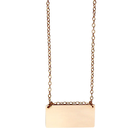 Gold Bar Necklace - large