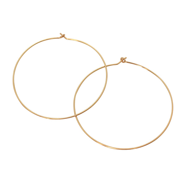 Large slim gold hoop earrings