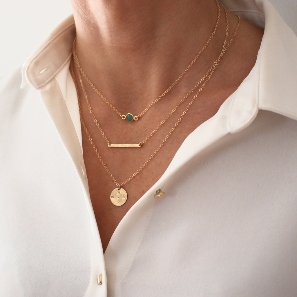 Delicate layering necklace set
