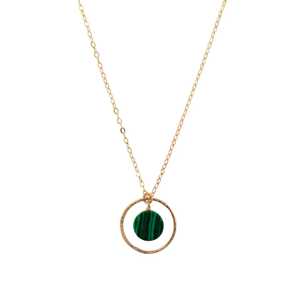 Malachite circle necklace