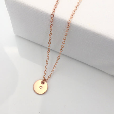 Mini Personalised Rose Gold necklace 2