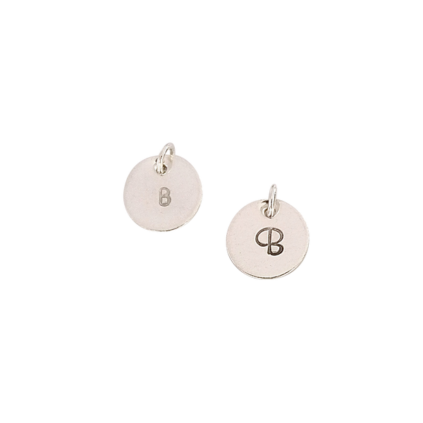 Mini personalised silver disc pendant