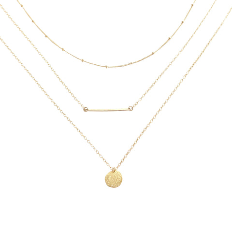 Gold Layering Necklace set