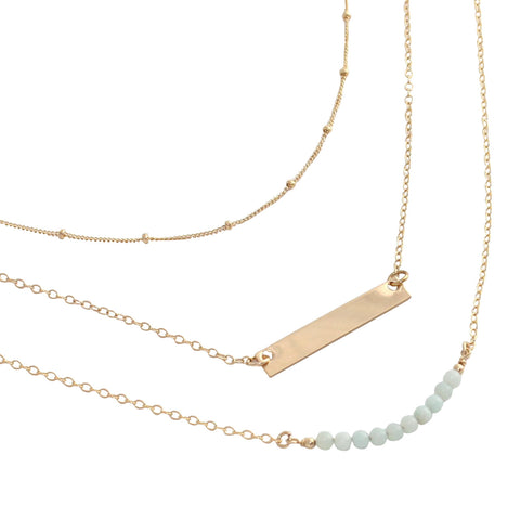 Gold Layering Necklace set (no. 2) - save 20%