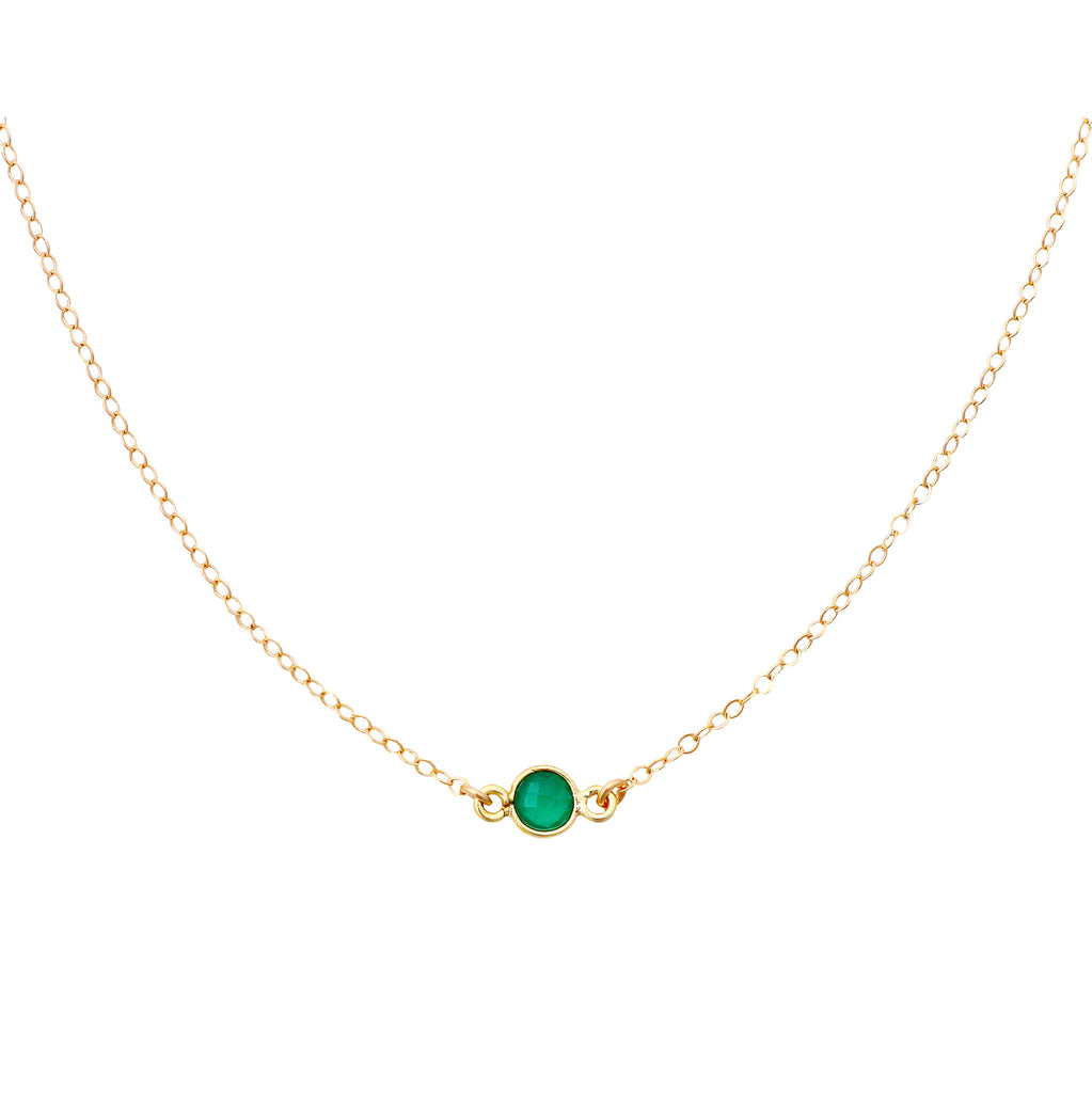 Green Onyx Gold Choker necklace