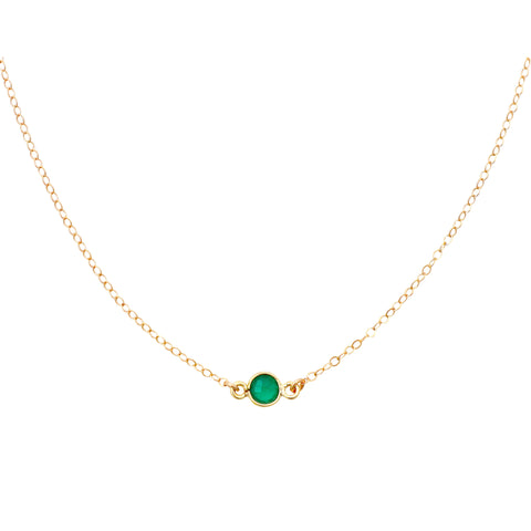 Green Onyx Gold Choker