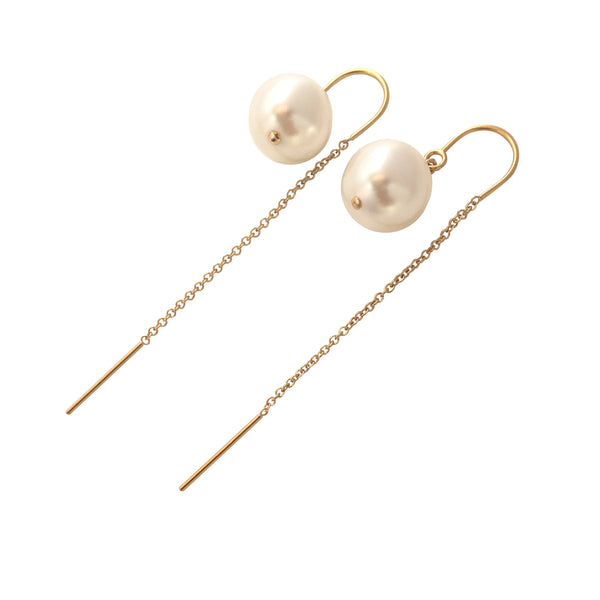 Pearl ear threaders