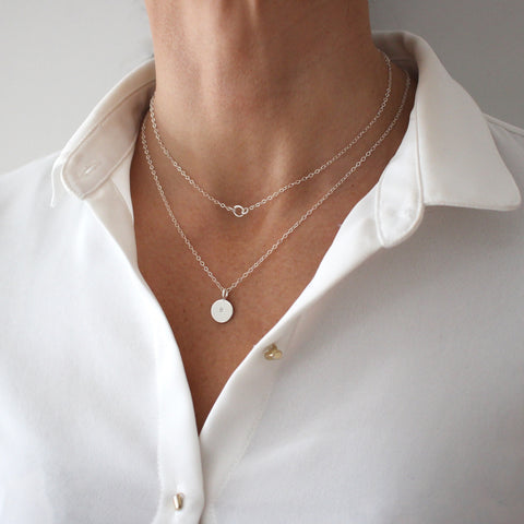 Silver Layering Necklace set - save 15%
