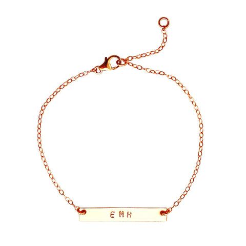 Rose Gold Name Plate Bracelet