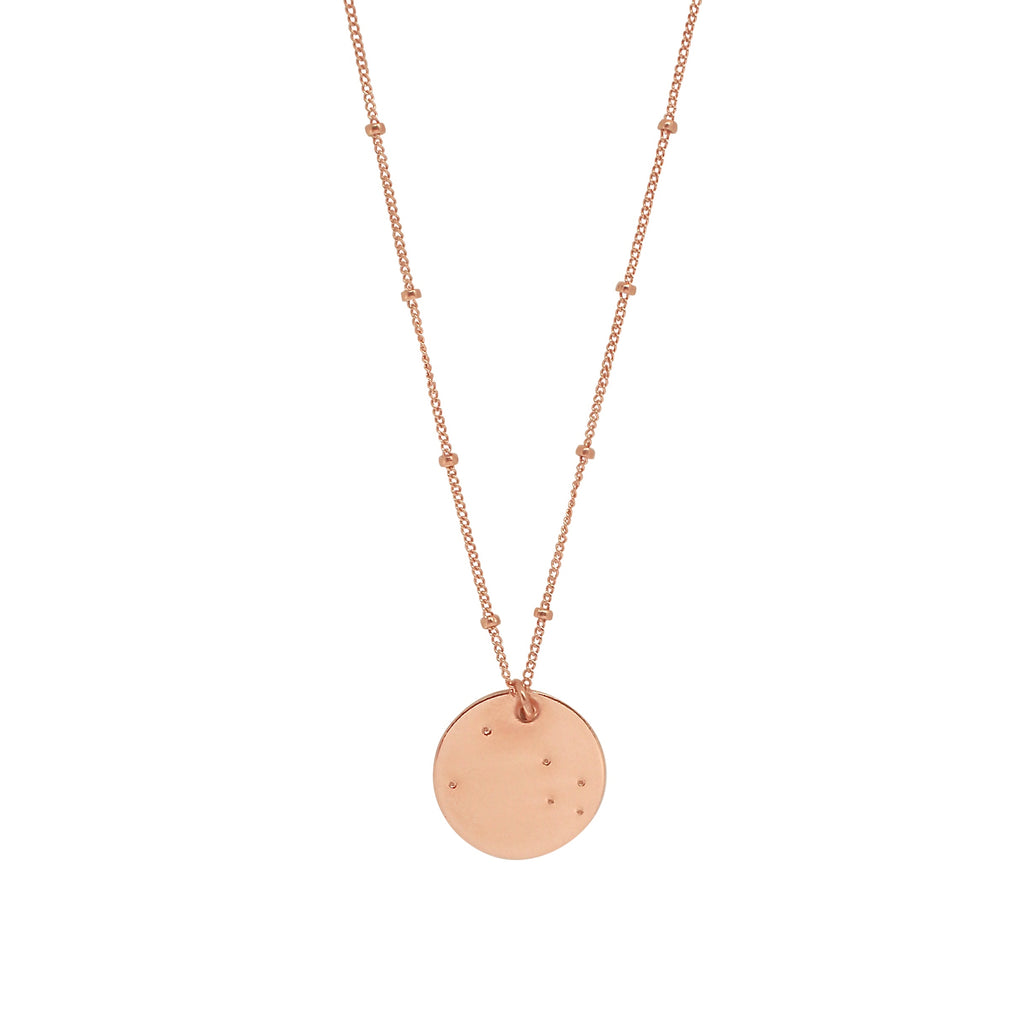 Rose gold constellation necklace
