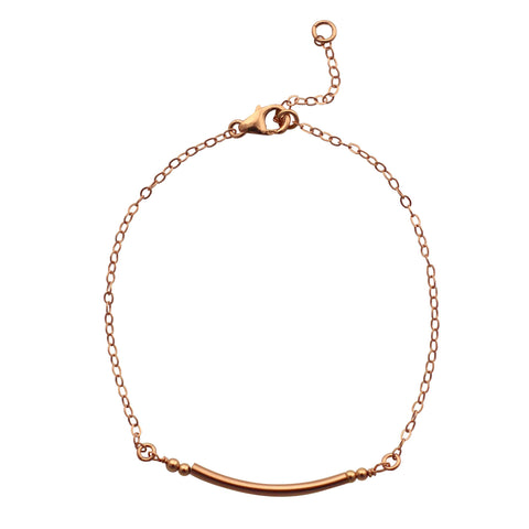 Rose Gold Curved Bar bracelet